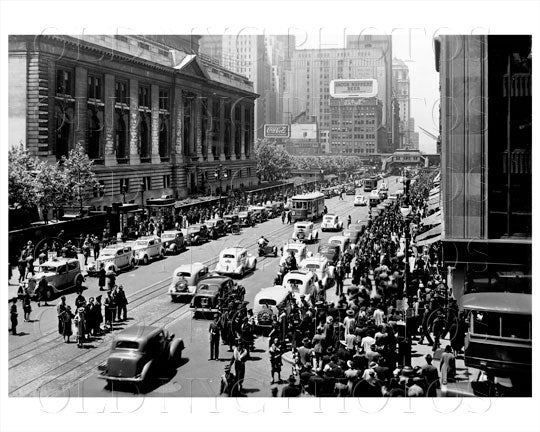 42nd St West from 5th Ave Manhattan NYC 1939 Old Vintage Photos and Images
