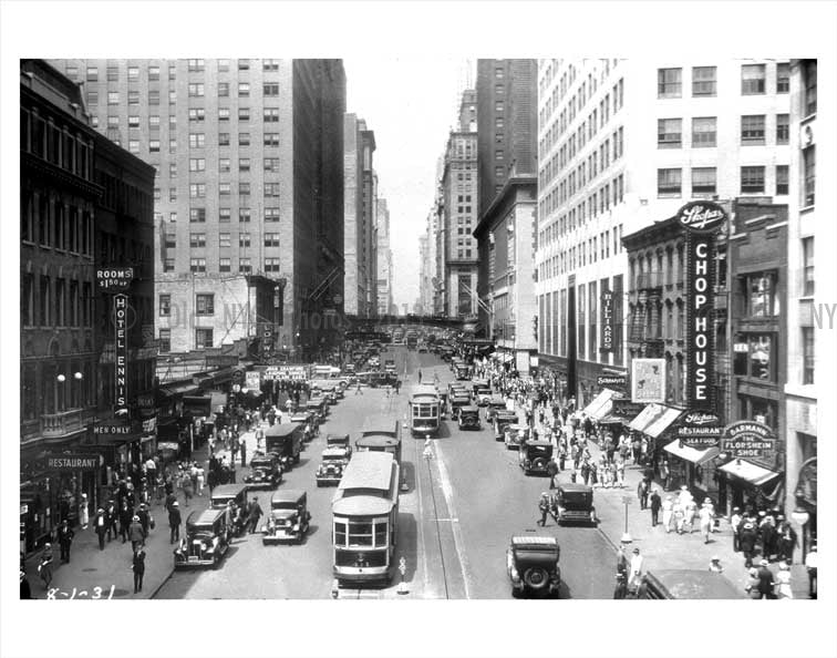 42nd Street August 1931 Midtown Manhattan Old Vintage Photos and Images