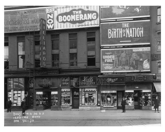 42nd Street & Broadway  - Midtown Manhattan - 1915 Old Vintage Photos and Images