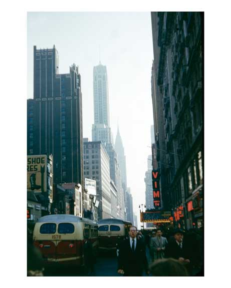 42nd Street looking east with the Chrysler Building in the background Midtown Manhattan Old Vintage Photos and Images