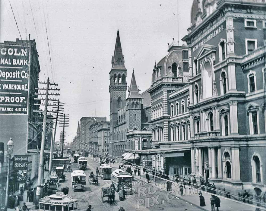 42nd Street looking west from old Grand Central Station, c.1888 - Midtown East - Manhattan Old Vintage Photos and Images