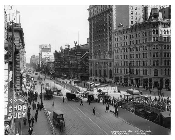 42rd Street & 7th Avenue - Midtown - Manhattan  1914 Old Vintage Photos and Images
