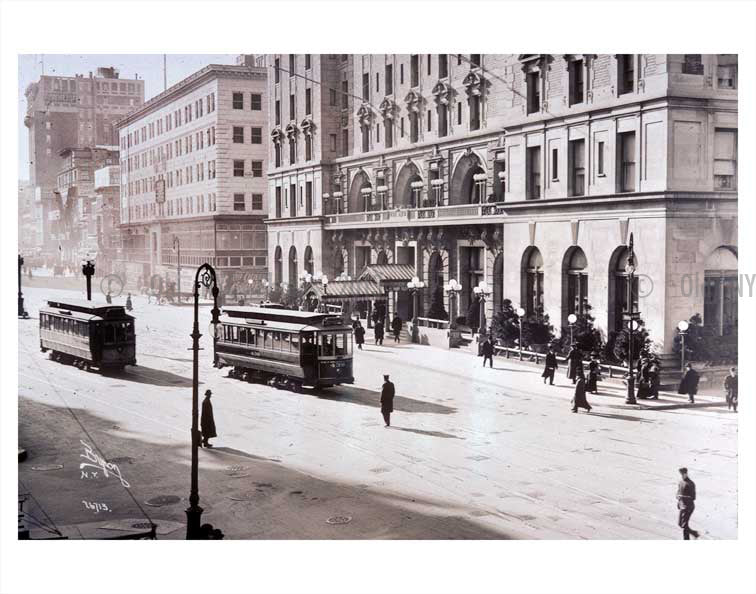44th Street & Broadway Midtown Manhattan Old Vintage Photos and Images
