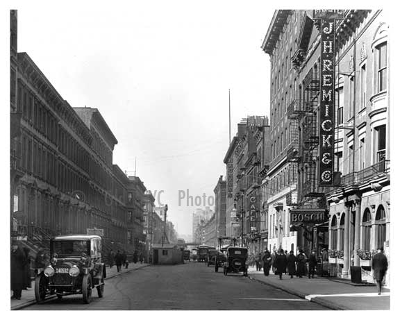 46th Street between 8th Ave & Broadway - Midtown Manhattan - 1915 F Old Vintage Photos and Images
