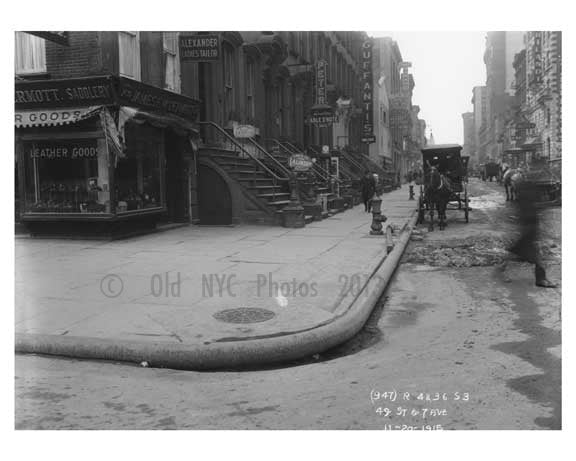 49th Street & 7th Avenue  - Midtown Manhattan - 1915 Old Vintage Photos and Images