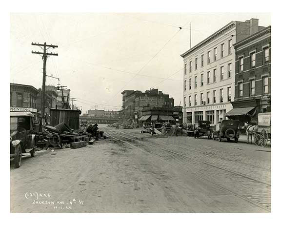 4th Street & Jackson Ave - Long island City  - Queens, NY Old Vintage Photos and Images