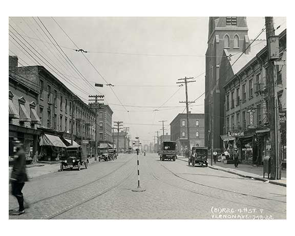 4th Street & Vernon Ave  1922  - Long island City  - Queens, NY Old Vintage Photos and Images