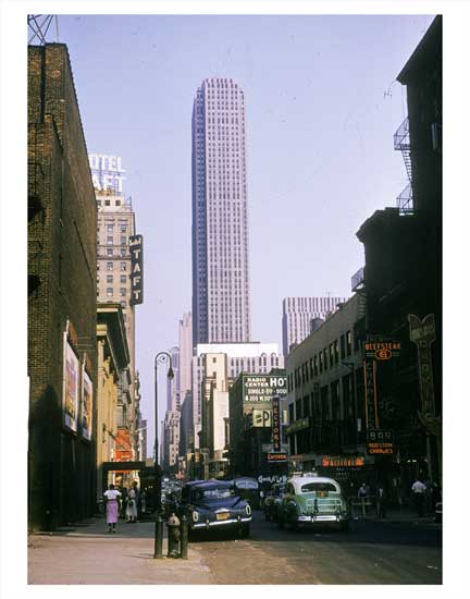 50th St - Midtown Manhattan Old Vintage Photos and Images
