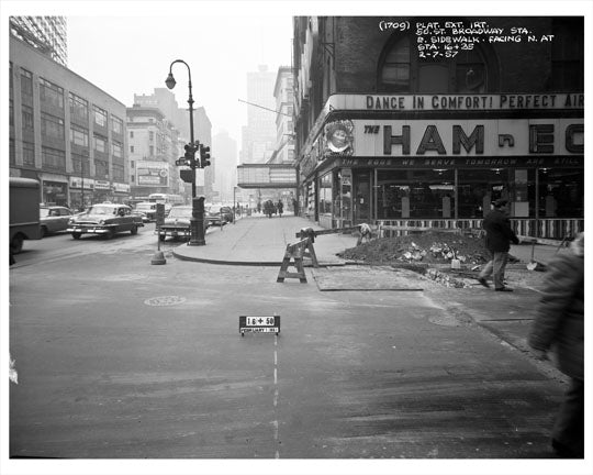 50th Street Broadway Station 1957 - Midtown Manhattan Old Vintage Photos and Images