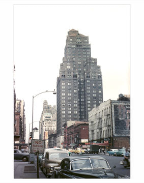 52nd Street & Ave of The Americas - Midtown Manhattan NY Old Vintage Photos and Images
