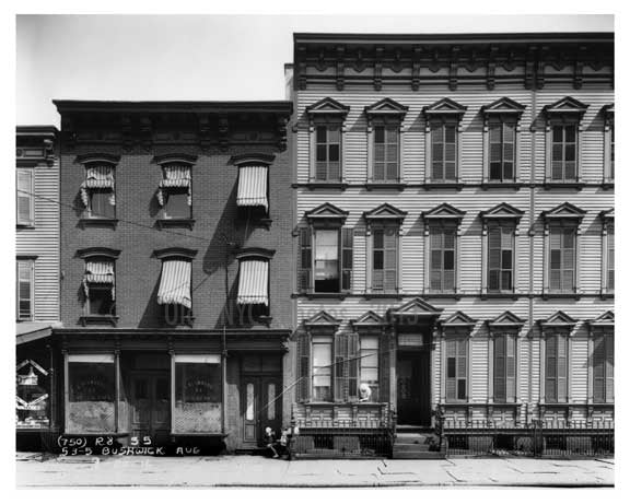 53 - 55 Bushwick Avenue  - Williamsburg - Brooklyn, NY 1916 Old Vintage Photos and Images