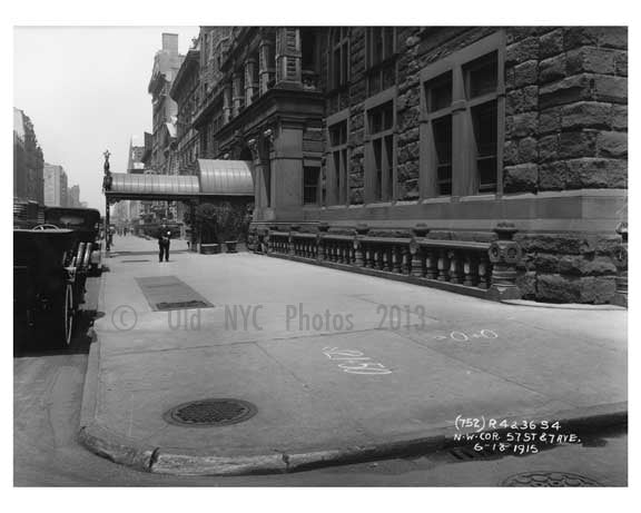 57th Street & 7th Avenue - Midtown Manhattan 1914 F Old Vintage Photos and Images