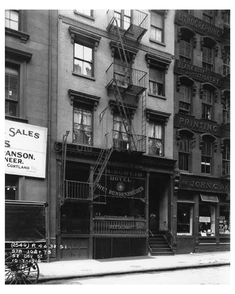 58 Dey Street October 7th 1915 currently the  Financial District In Lower Manhattan Old Vintage Photos and Images