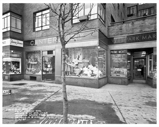 59th Street & Broadway Store Fronts 1957  - Midtown Manhattan - New York, NY Old Vintage Photos and Images