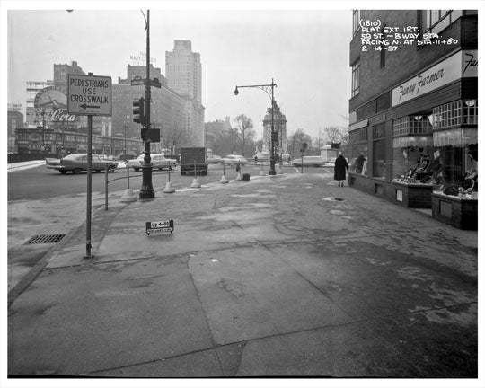 59th Street overlooking Columbus Circle 1957  -  Manhattan - New York, NY Old Vintage Photos and Images