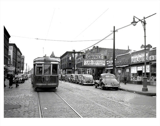 5th Ave & 1st St. Trolley passing Old Vintage Photos and Images