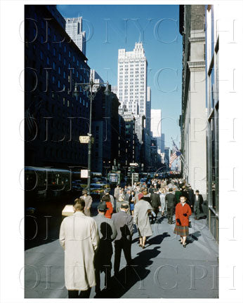 5th Ave 44th Street, Midtown, Manhattan, NYC 1959 Old Vintage Photos and Images