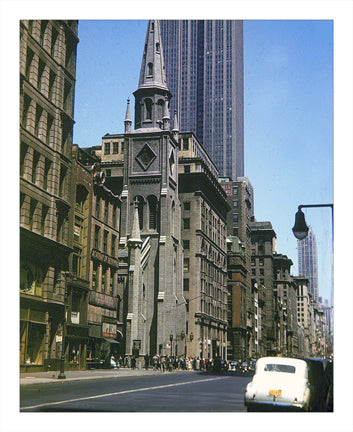 5th Ave Cathedral - Midtown Manhattan Old Vintage Photos and Images