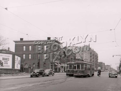 5th Avenue at 99th Street, Fort Hamilton, end of trolley line