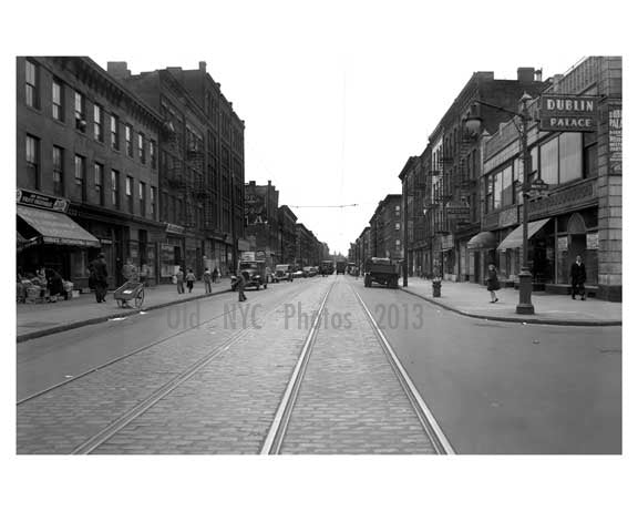 5th Avenue looking Southwest between Baltic & Park Place Park Slope - Brooklyn NY Circa 1918 Old Vintage Photos and Images