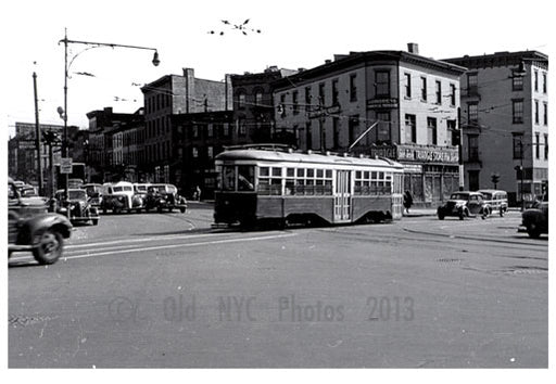 5th & Flatbush Ave - 5th Ave Trolley Line 1948 Old Vintage Photos and Images