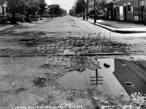 60th Street looking south at 16th Avenue, 1923 Old Vintage Photos and Images