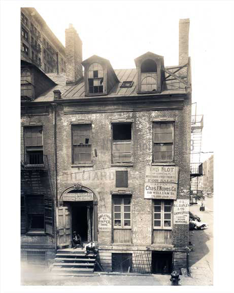 "63 Prince Street  ""Lot for Sale"" Soho Downtown Manhattan 1923 NYC Old Vintage Photos and Images"