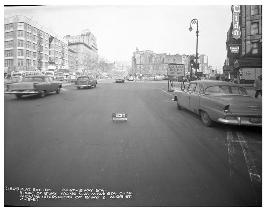 65th Street & Broadway (site of Lincoln Center) 1957 - Upper West Side - Manhattan - New York, NY Old Vintage Photos and Images