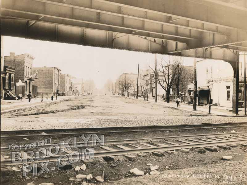 65th Street & New Utrecht Avenue, looking northwest, 1918