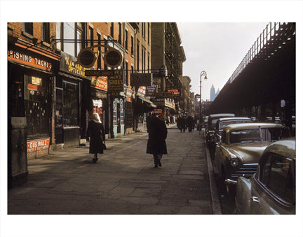 6th Ave & 13th St - Greenwich Village - Downtown Manhattan Old Vintage Photos and Images