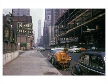 6th Ave Looking North - Midtown Manhattan - Old Vintage Photos and Images