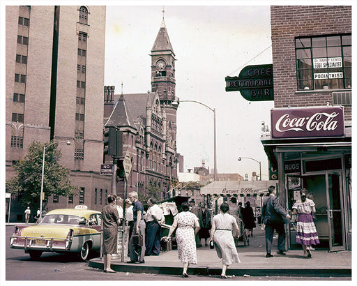 6th Avenue from 8th Street, Greenwich Village NYC - 1960