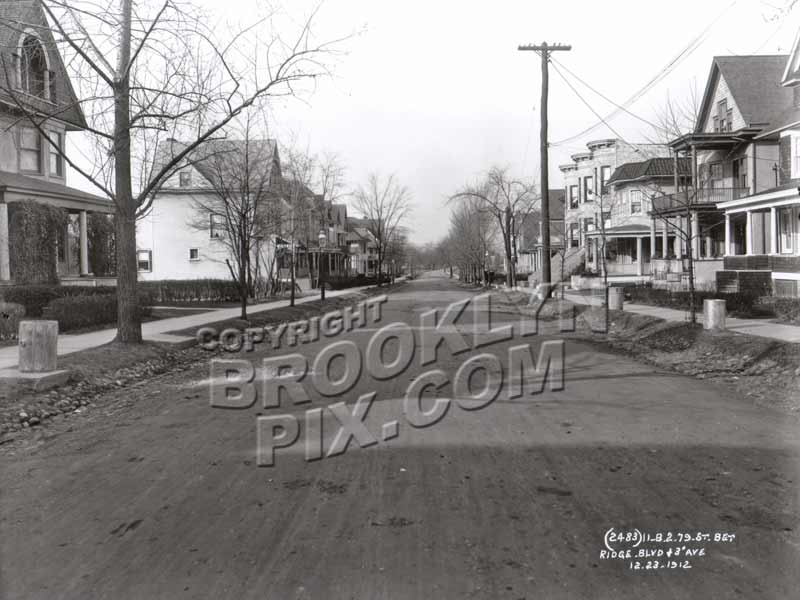 79th Street between Ridge Blvd and Third Avenue, 1912