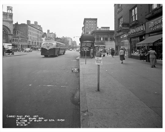 79th Street & Broadway Storefronts 1957 - Upper West Side - Manhattan - New York, NY Old Vintage Photos and Images