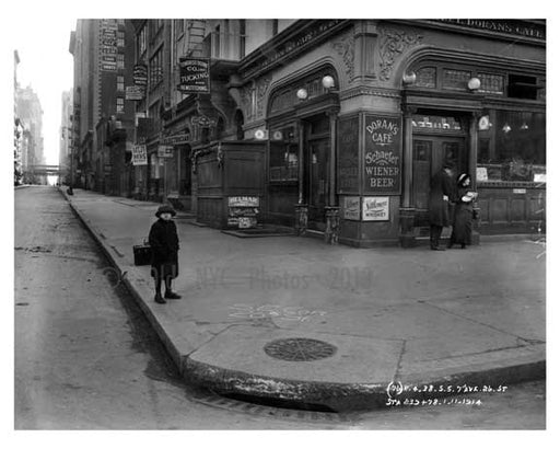 7th Ave & 26th Street - Chelsea  NY 1914 Old Vintage Photos and Images