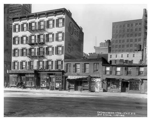 7th Ave between 17th & 18th Streets - Chelsea  NY 1914 Old Vintage Photos and Images