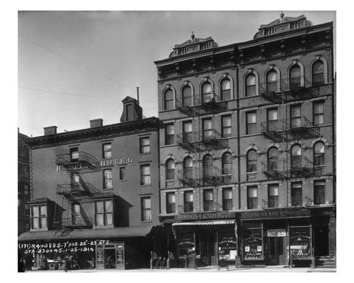 7th Ave between 22nd & 23rd Streets - Chelsea  NY 1914 A Old Vintage Photos and Images