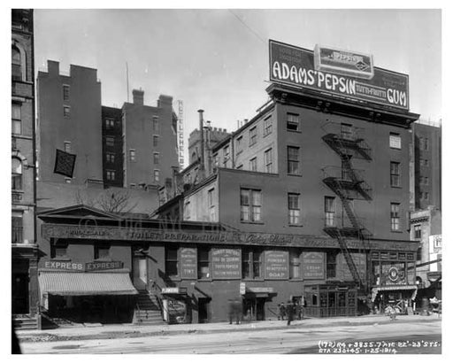 7th Ave between 22nd & 23rd Streets - Chelsea  NY 1914 C Old Vintage Photos and Images