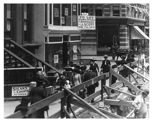7th Avenue & 126th Street Harlem, NY 1910 Old Vintage Photos and Images