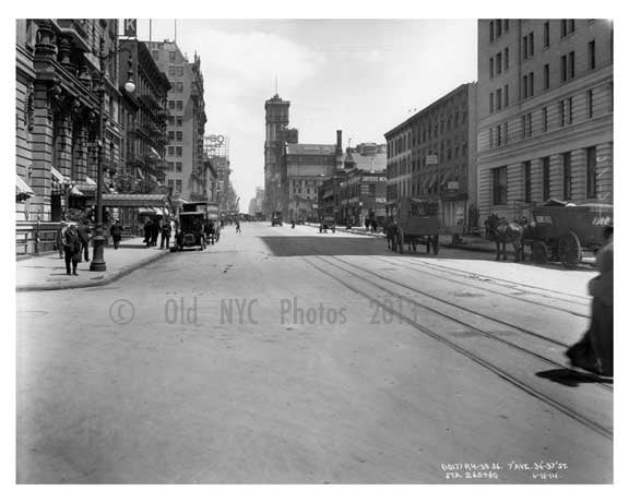 7th Avenue & 36th & 37th Street  - Midtown Manhattan - 1915 Old Vintage Photos and Images