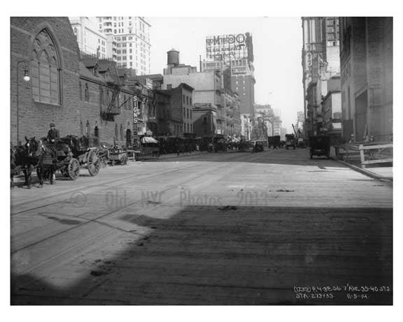 7th Avenue 39th & 40th Streets - Midtown - Manhattan  1914 Old Vintage Photos and Images