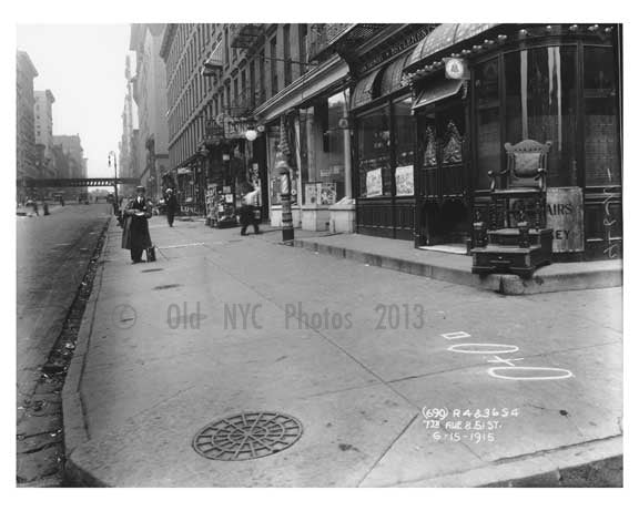 7th Avenue & 51st Street -  Midtown Manhattan 1914 Old Vintage Photos and Images