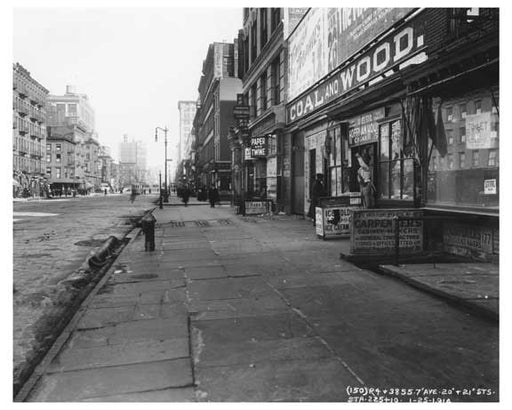 7th Avenue between 20th & 21st Streets - Chelsea  NY 1915 Old Vintage Photos and Images