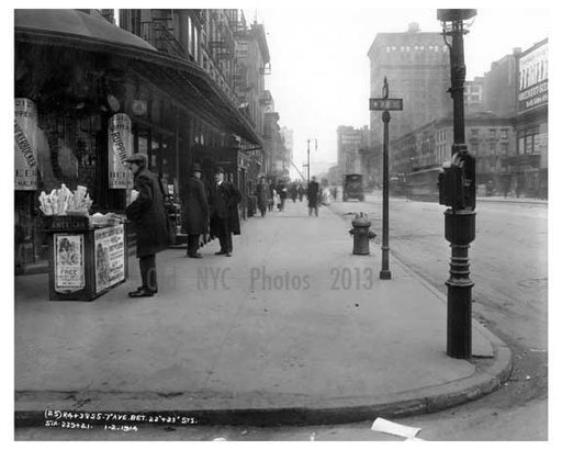 7th Avenue between 22md & 23rd Streets - Chelsea  NY 1915 Old Vintage Photos and Images