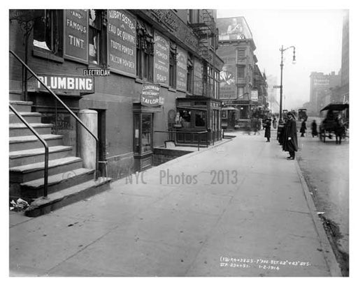 7th Avenue between 22nd & 23rd Streets - Chelsea  NY 1915 A Old Vintage Photos and Images