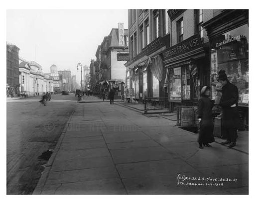 7th Avenue between 29th & 30th Streets - Chelsea  NY 1915 Old Vintage Photos and Images