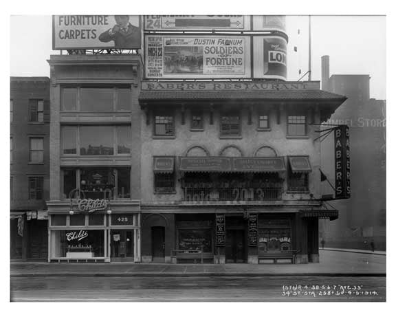 7th Avenue between 33rd & 34th Streets -  Midtown Manhattan 1914 B Old Vintage Photos and Images