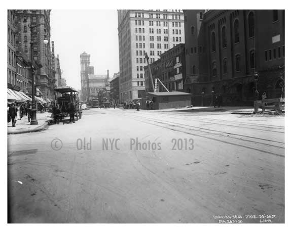 7th Avenue between 35th & 36th Street  - Midtown Manhattan - 1915 Old Vintage Photos and Images
