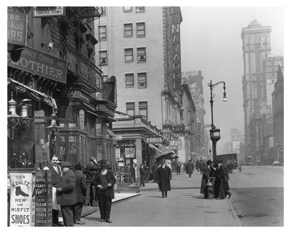 7th Avenue between 36th & 37th Streets Midtown Manhattan 1914 B Old Vintage Photos and Images