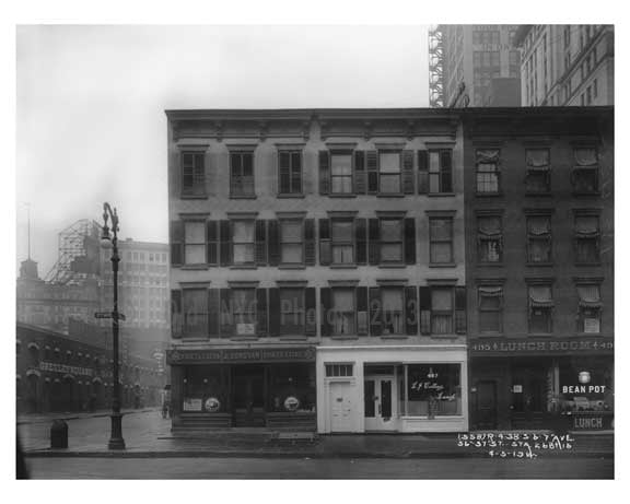 7th Avenue between 36th & 37th Streets -  Midtown Manhattan 1914 Old Vintage Photos and Images
